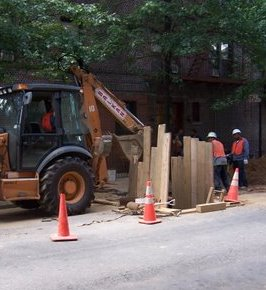 sewer replacement- excavation work