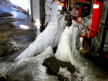 burst water pipes