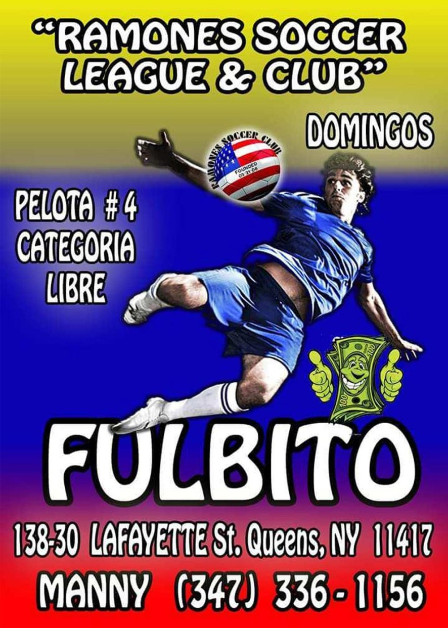Ramones Soccer League and Club Flyer