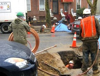 water main replacement same day service