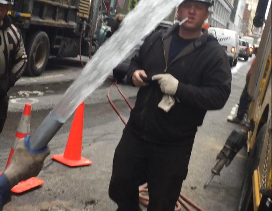 Manhattan water leak