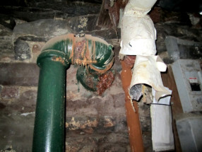 Corroded water main