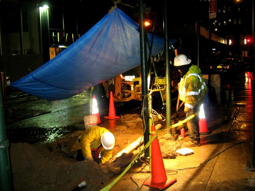 NYC water main repair