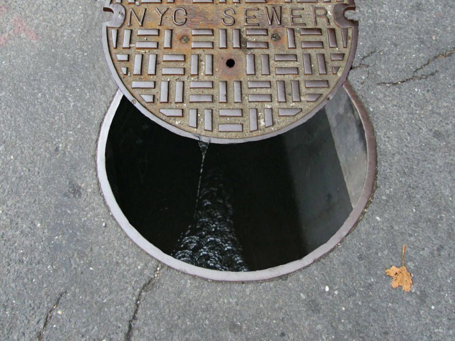 inside sewer manhole