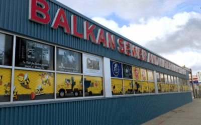 Balkan Plumbing Brand Gets Amazing Window Graphics from Sign Central Creative Services