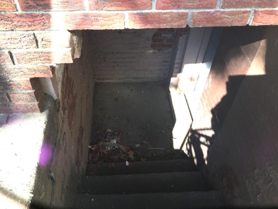 clogged area drain