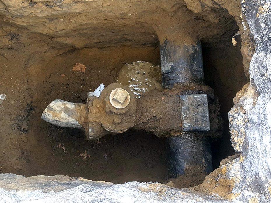 Bayside Water Main Leak Repair Broken