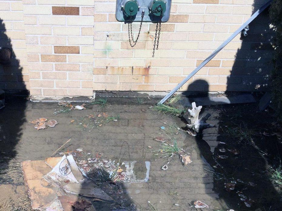Bayside Water Main Leak Repair Flooding