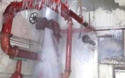 Frozen Water Line For Sprinkler System Bursts In Queens