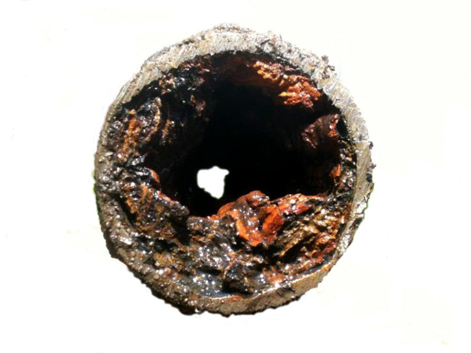 corrosion clogged water main