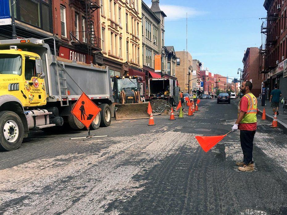 Emergency Sewer Repairs Street Grading