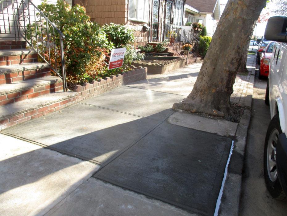 Brooklyn sidewalk cement