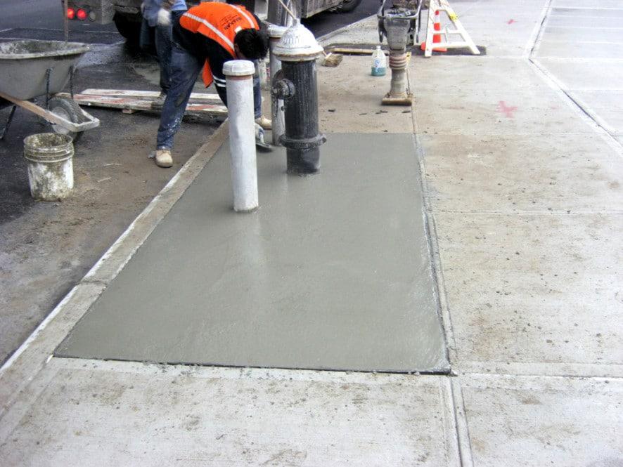sidewalk cement