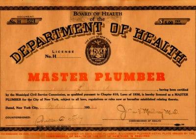 NYC Master Plumber