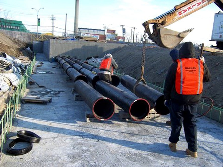 sewer piping system