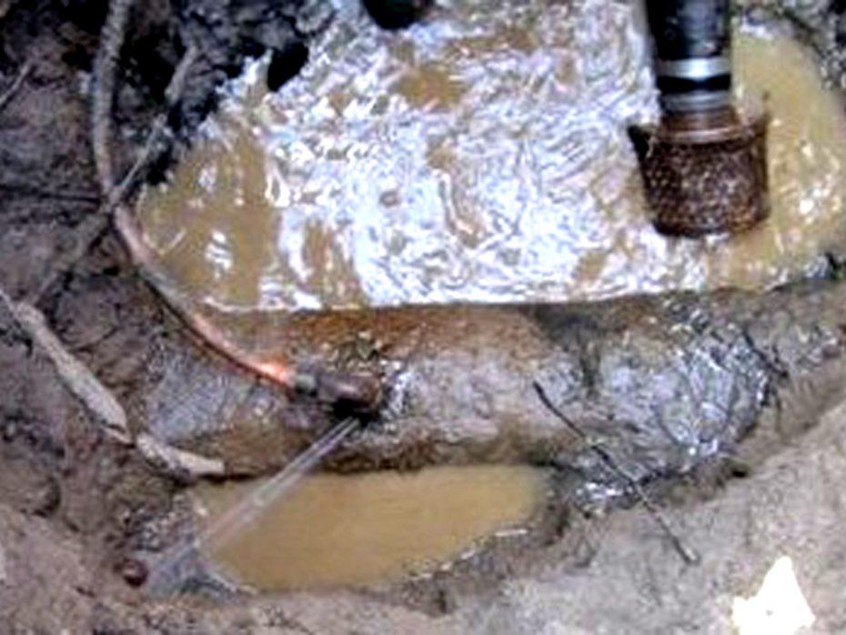 water tap leaks