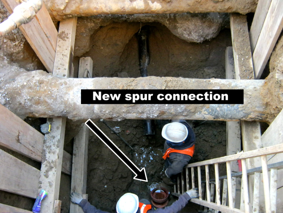 sewer spur connection