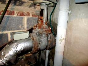 Water main shut off valve.
