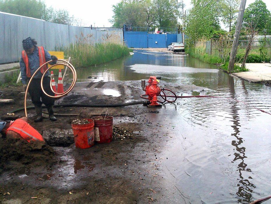 Queens Water Main Break Installing Copper