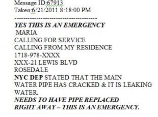 rosedale emergency water main repair