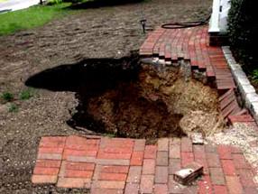 collapsed cesspool
