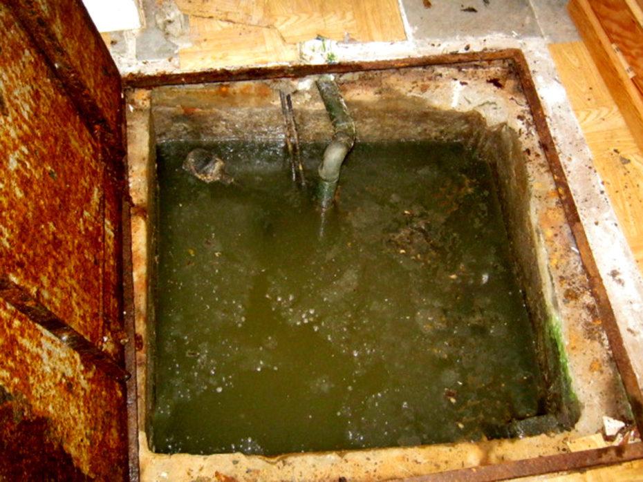 sewer access pit