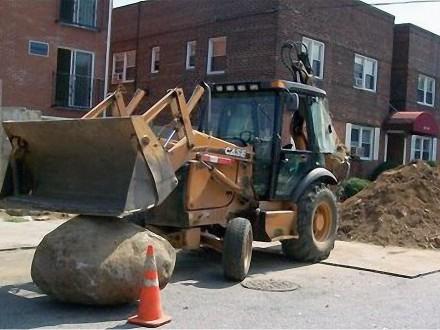 Sewer Repair, Rock Removed