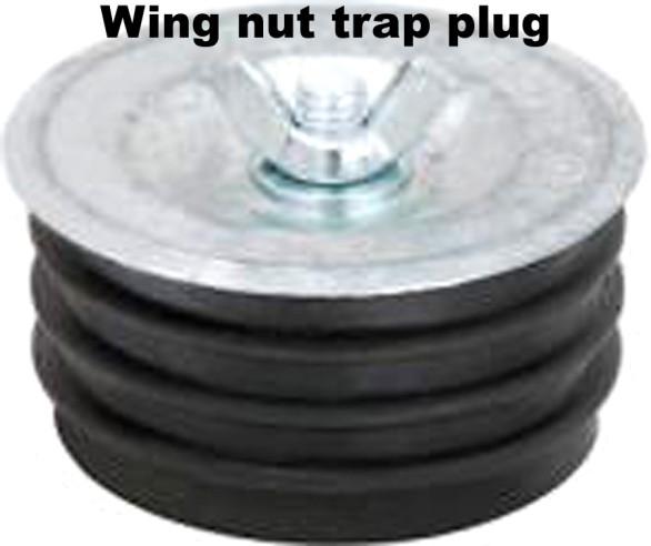 sewer trap plug