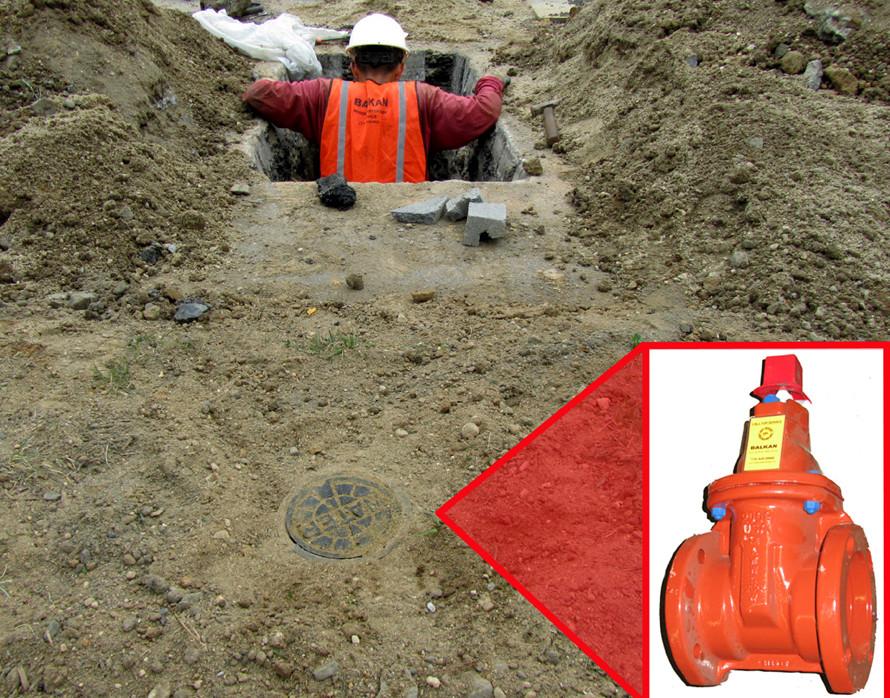 sidewalk water valve