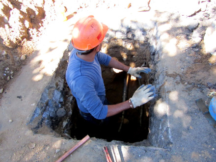 underground water line