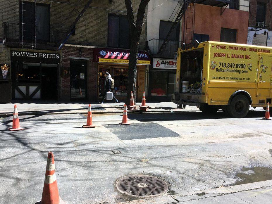 Underground Water Line Repair Manhattan Site
