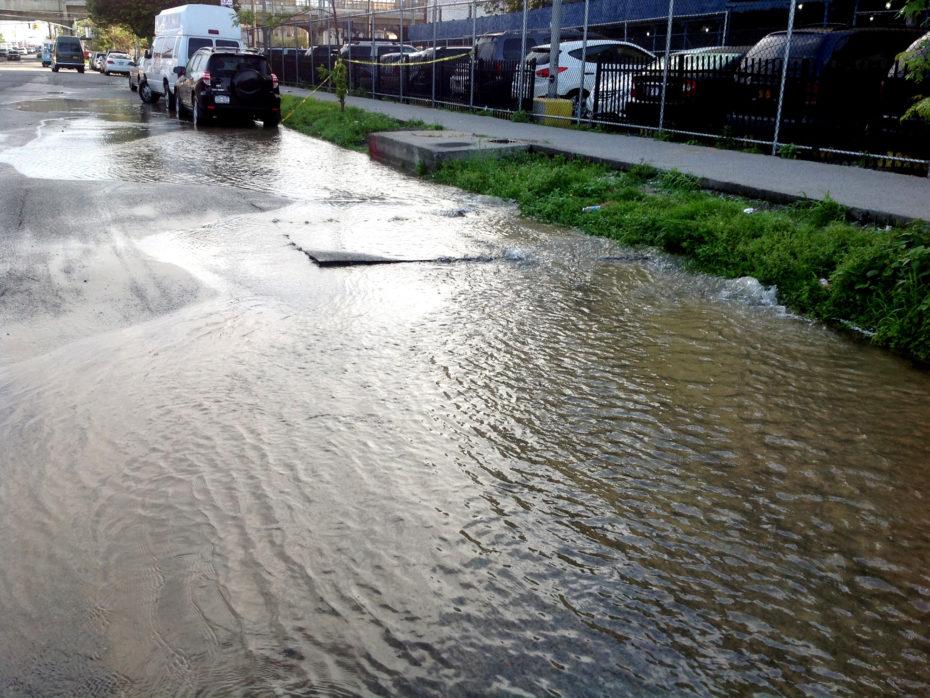 roadway washout