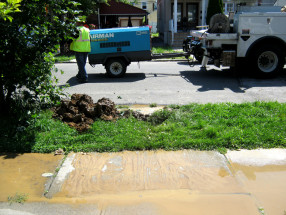 water main leak in Queens, NY