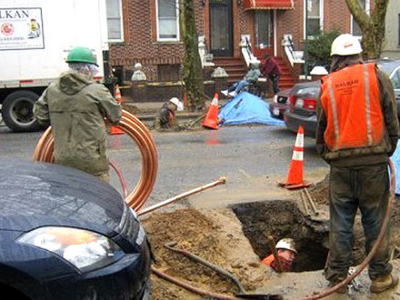 water main repair