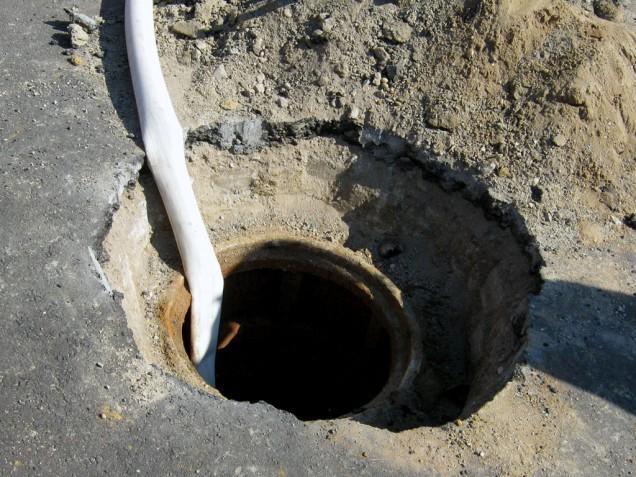 burried manhole